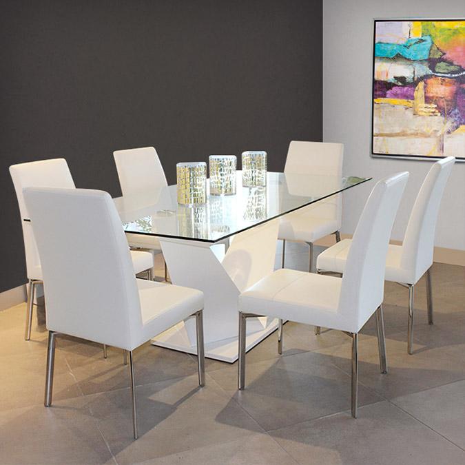 Actual Studio | Mesa de comedor de cristal templado ...