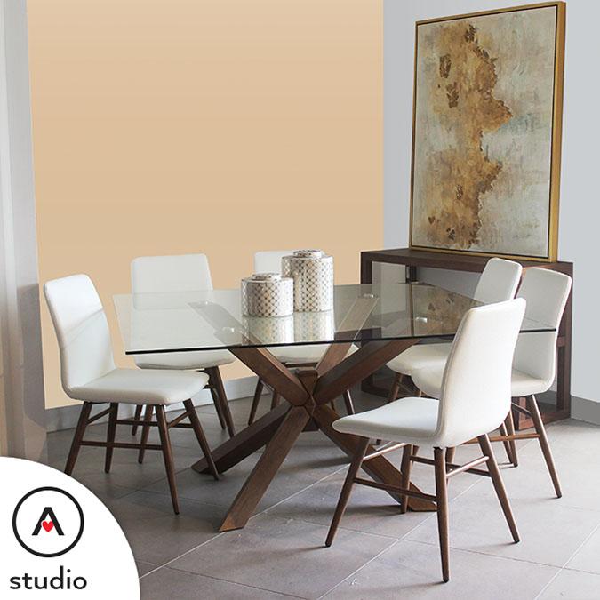 Actual Studio | Mesa de comedor cristal templado ...
